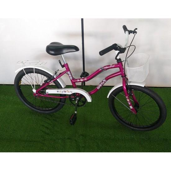 Bicicleta Feminina jady  Aro 20 Com Cesta E Garupa